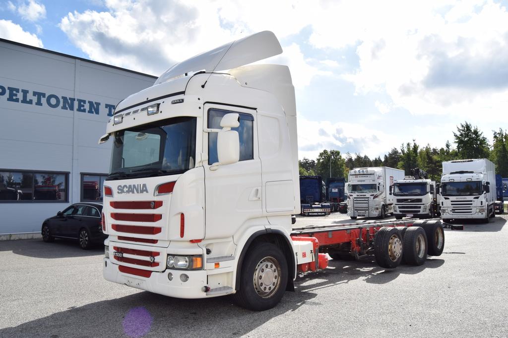 Scania R500 8x2 Mahd. päälirakennettuna vm. 2012