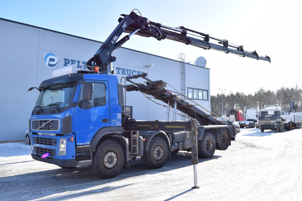 Volvo FM440 8x2 HIAB 288-6 & Multilift vaijerilaite vm 2007