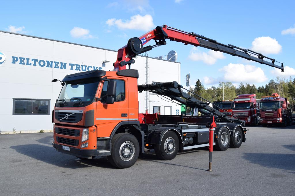 Volvo FM460 8x2 HMF3220 HMF3220 Nosturi + Vaijerilaite vm 2013